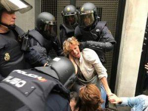 Represión durante el referendo de Cataluña