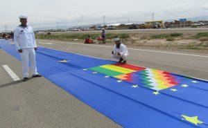 Bolivia ondea bandera marítima
