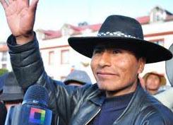 Walter Aduviri Calizaya, líder indígena aymara