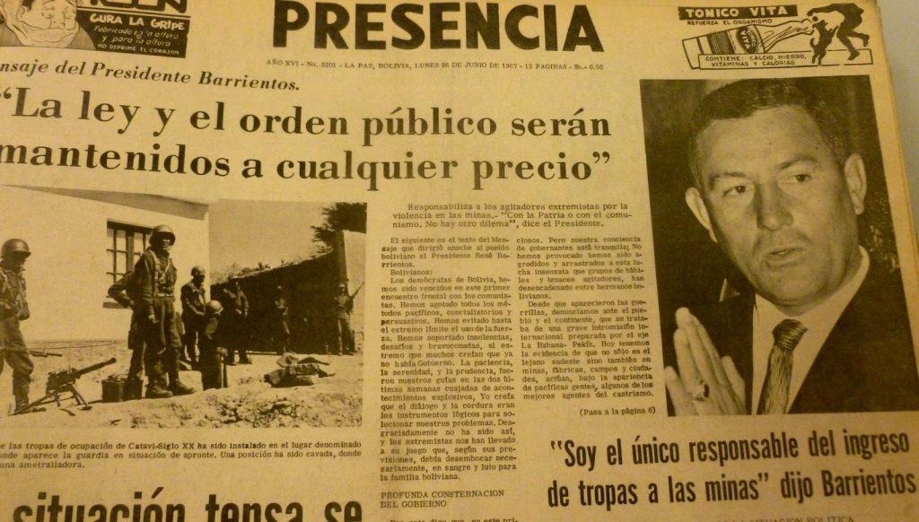 Diario Presencia del 26 de junio de 1967.