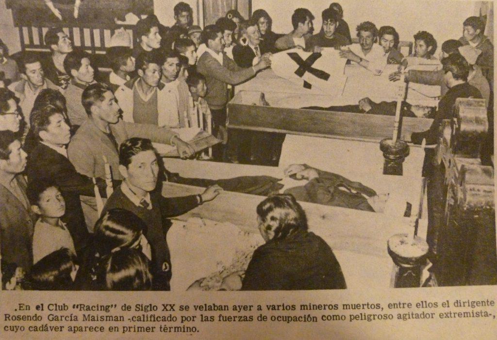 Los velatorios. Diario Presencia, de junio de 1967.